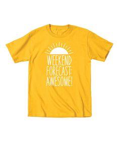 Love this Yellow 'Weekend Forecast' Tee - Toddler & Kids on #zulily! #zulilyfinds
