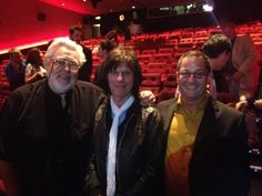 Big Jim Sullivan, Jeff Beck, and Tommy Tedesco at a screening in the UK this…