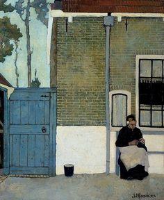 Jan Mankes - Knitting woman (1914)
