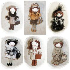 Raincoat doll Handmade Pin Brooch Rose Boots by Finasita on Etsy, €35.00