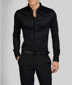 Black shirt and black troursers like that... just makes women go mental if the body is as good as the model. :D