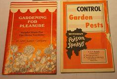 Burpee Garden Booklets Vintage Organic by EauPleineVintage on Etsy