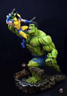 Miniaturas e Colecionismo - Hulk Vs. Wolverine                                                                                                                                                                                 Más