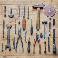 Old dirty vintage repair tools on wooden background stock photo (c) Cebas (#8347020) | Stockfresh