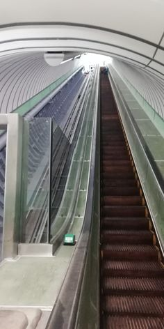 Escalators inside the pedestrian tunnel under the river Tyne