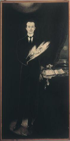 Alberto Martini Autoritratto, 1911 Disegno su carta bianca intelata, penna di china e pastello, cm 240 x 130 Oderzo, Fondazione Oderzo Cultura onlus, Pinacoteca Alberto Martini