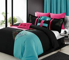Hot Pink And Turquoise Bedroom | T2eC16R,!yUE9s6NFHnmBRpkDYbmFQ~~60_35.JPG