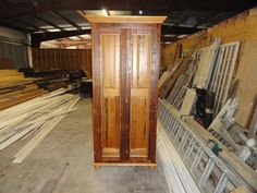 Cypress Bookcase - Front View w/o glass installed.  Will update once it's finished...
