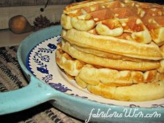 Belgium Waffle Recipe- Easy! Ingredients on hand & turned out crispy & light.