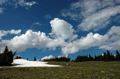 happy cumulus clouds over Manning Park BC