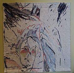 Anne Brodersen -- Departure __  43.7 x 41.7 inches; cotton, linen, wool, silk