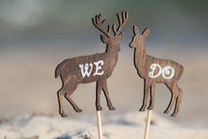 Deer Cake Topper We Do  Mr & Mrs Deer Beach wedding by WeddingPros
