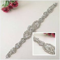 bridal sparkly belts silver - Google Search