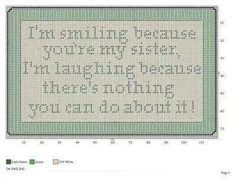 Smiling because, in plastic canvas..can also be done in cross stitch..