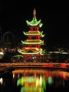'China' - Tivoli by Night, Copenhagen, Denmark