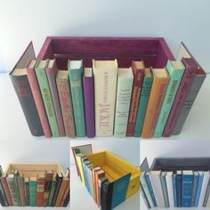 DIY Book Crafts Hidden Storage - Vintage Decorative Secret Hidden Storage Covobox Faux Book Box, Router Cable Electronics and Cord Hider in Multicolor with Crate. Diy Rangement, Diy Bathroom, Ideias Diy, Craft Storage, Diy Storage Boxes, Book Storage, Storage Ideas, Storage Hacks, Board Game Storage