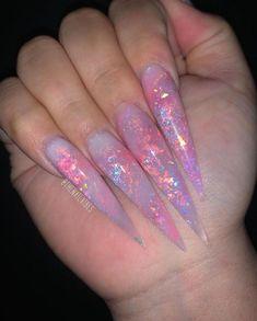 long Stilettos nails opal foil X long stiletto nails W/ fire opal foil ?✨X long stiletto nails W/ fire opal foil ? Opal Nails, Aycrlic Nails, Bling Nails, Rhinestone Nails, Nail Swag, Acrylic Nails Stiletto, Best Acrylic Nails, Coffin Nails, Nagel Bling