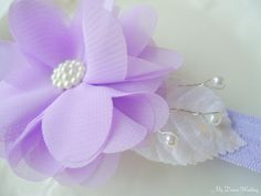 Lavender girls headband. Lilac flower girls hair by MyDreamWedding