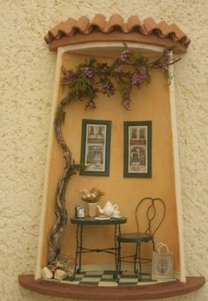 Miniature Rooms, Miniature Crafts, Miniature Houses, Clay Fairy House, Fairy Houses, Clay Crafts, Diy And Crafts, Crafts For Kids, Doll House Plans