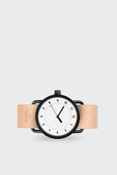 TID Watches, No.1 - white/natural leather