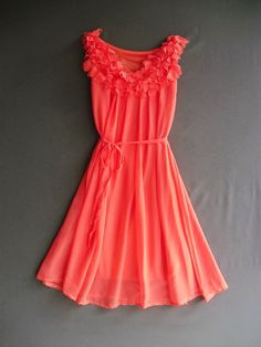 A Party III - Dress - Sweet Party Wedding Bridesmaid Cocktail Dinner Dress Coral