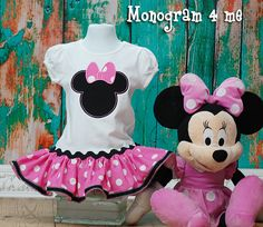 Minnie Mouse Ruffled Pink Dress, Disney, 1st Birthday Party Dress on Etsy, $34.99