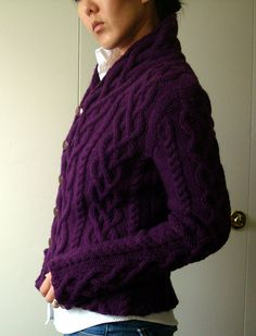 I am fainting with desire for this sweater -- and yarns from Webs!!
