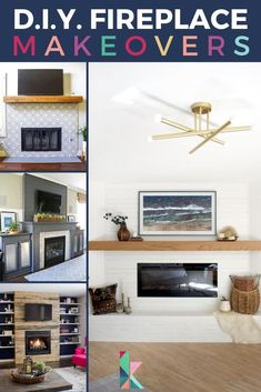 A DIY fireplace is an amazing way to update a room. Whether you want to change just the mantle, the surround, the whole thing, or even start from scratch, these projects these 17 tutorials will give you tons of inspiration for a fireplace makeover with a big impact. #DIYfireplace #DIYfauxfireplace #DIYfireplacemakeover #DIYfireplacesurround ##DIYfakefireplace #fireplacetutorial #easyDIYfireplace #DIY #fireplace