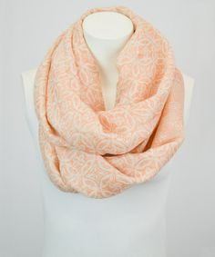 Another great find on #zulily! Apricot Arabesque Infinity Scarf by Leto Collection #zulilyfinds
