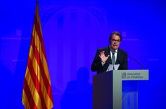 President of Catalonia Artur Mas speaks during a press conference on August 4, 2015 in Barcelona, Catalonia. Catalan President Artur Mas signed a decree yesterday for early regional elections on September 27. In July, Pro-Independence political parties and associations set aside their differences and agreed to run a joint list named 'Junts Pel Si' (Together for Yes). If the secessionist block wins the elections they will declare unilateral independence.
