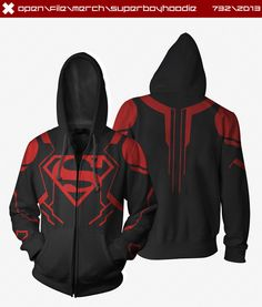 Superboy Hoodie by ~seventhirtytwo on deviantART