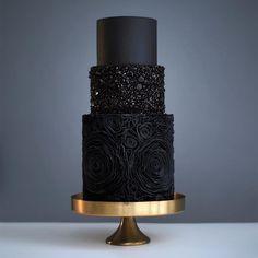 solid black cake