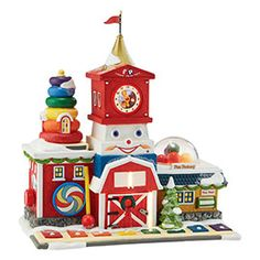 "Department 56: Products - ""Fisher-Price® Fun Factory"" - View Lighted Buildings"