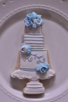 1 Dozen Wedding Cake Cookie Favor Style 3Wedding by MarinoldCakes
