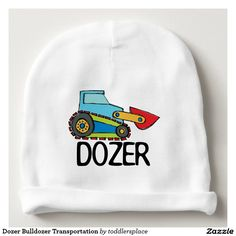 Dozer Bulldozer Transportation Baby Beanie