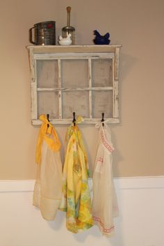 My new vintage apron display
