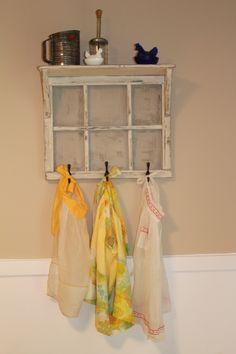 My new vintage apron display