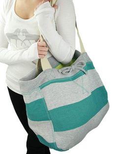 YogaColors Cabana Stripes Sweatshirt Tote Bag #WomenGymBags