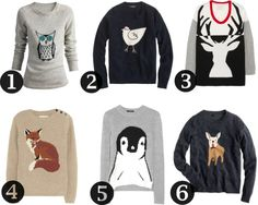 Animal Sweaters -- I NEED that penguin sweater!!