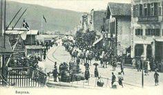 Η ελληνική Σμύρνη... In Ancient Times, Old City, Paris Skyline, City Photo, Greece, Old Things, Street View, Europe, Island