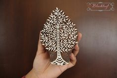 Wood Block Printing Hand Carved Indian Wood Textile Block Tree of Life