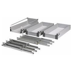 RATIONELL Volledig uittrekbare lade, set v 3 - 30 cm - IKEA