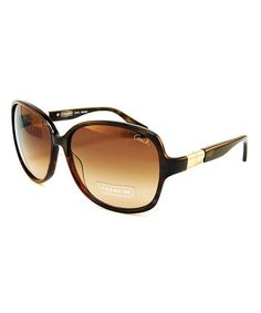 Take a look at this Coach Brown Glamour Sunglasses by Coach Sunglasses & Opticals on #zulily today!