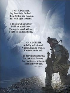 I Am A Soldier. military soldier story july poem july fourth stories veterans viral viral stories Army Mom, Army Life, Military Life, Military Service, Military Honors, Military Soldier, Us Army, Soldier Poem, Vintage Posters