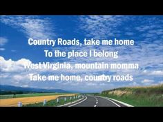 """Take Me Home, Country Roads"" with Lyrics (John Denver) ◘ ♫ ♪ ♫ AudioClip▶"