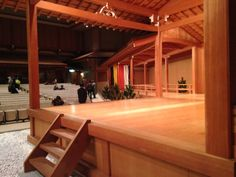 The stage of the National Noh Theater in Sendagaya (Tokyo, Japan).  November 2013.