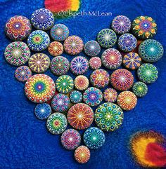 Mandala Stones by Elspeth McLean.