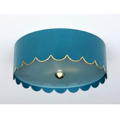 AVAIL IN MULTIPLE SIZES  AND COLORS The Scalloped Flush Mount - Coleen and Company