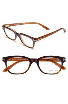 Tom Ford 49mm Optical Glasses, Shiny Dark Violet