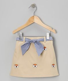 Take a look at this Khaki Auburn University Skirt - Infant, Toddler & Girls on zulily today!